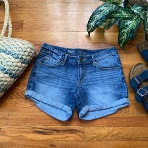 Denim Midi Shorts